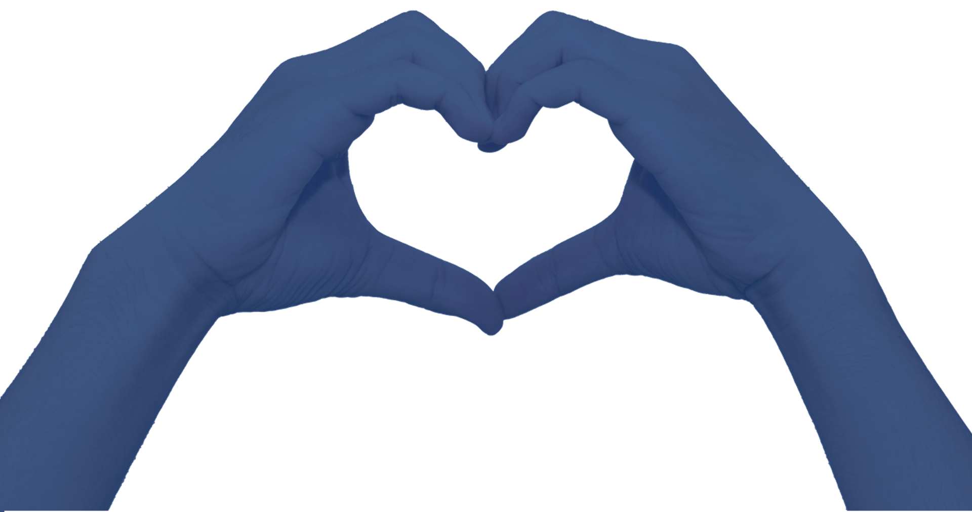 For the Love of Data, written in the middle of two hands forming a heart shape